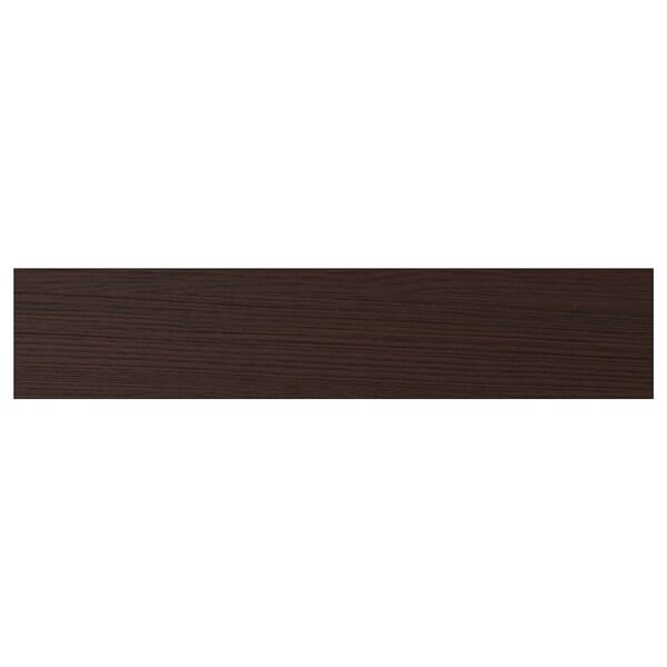 """ASKERSUND Drawer front, dark brown ash effect, 24x5 """""""