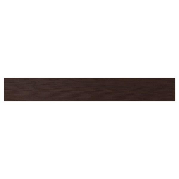 """ASKERSUND Drawer front, dark brown ash effect, 36x5 """""""