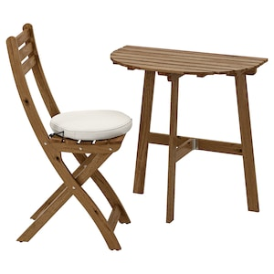Pleasant Wall Table Folding Chair Outdoor Askholmen Gray Brown Stained Froson Duvholmen Beige Machost Co Dining Chair Design Ideas Machostcouk
