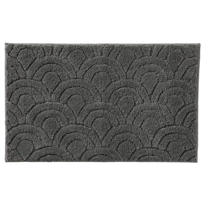ASKLÖNN Bath mat, dark gray, 20x32 ""