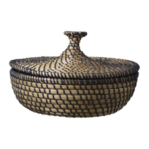 "ÅSUNDEN Basket with lid, dark gray Diameter: 10 ¼ "" Height: 6 ""  Diameter: 26 cm Height: 15 cm"