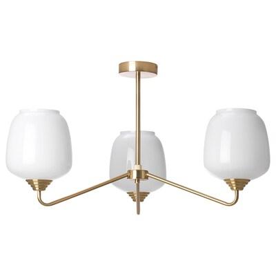ÅTERSKEN Ceiling lamp with 3 lights, opal glass