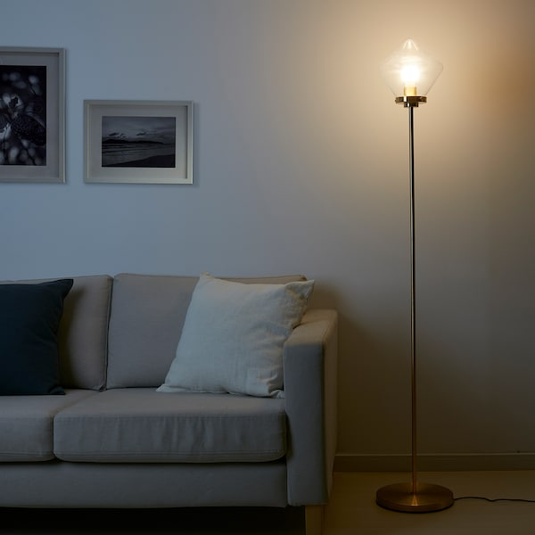 "ÅTERSKEN floor lamp with LED bulb clear glass 13 W 63 "" 11 "" 11 "" 6 ' 7 """