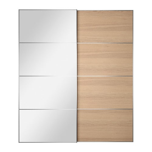 Auli ilseng pair of sliding doors 78 3 4x92 7 8 for Chene blanchi ikea