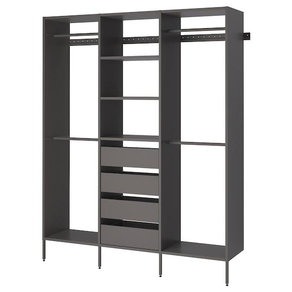 "AURDAL Wardrobe combination, dark gray, 74 3/4x15 3/4x87 """