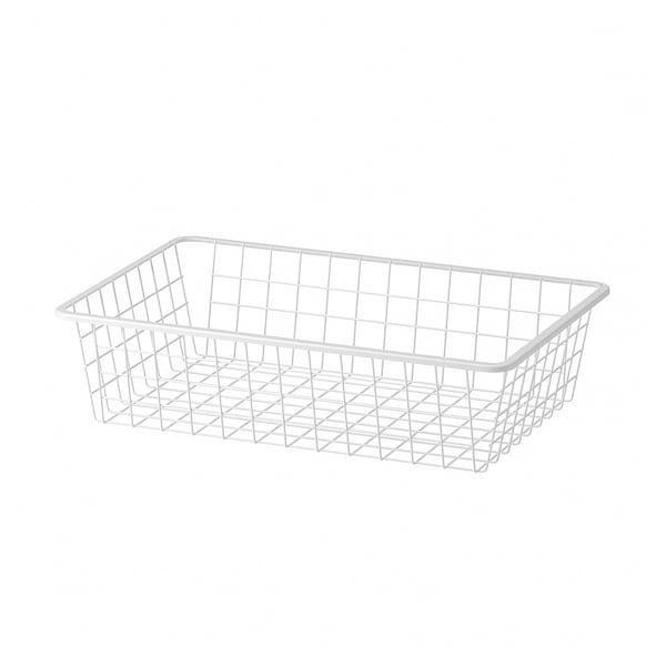 "AURDAL Wire basket, white, 22 1/4 """