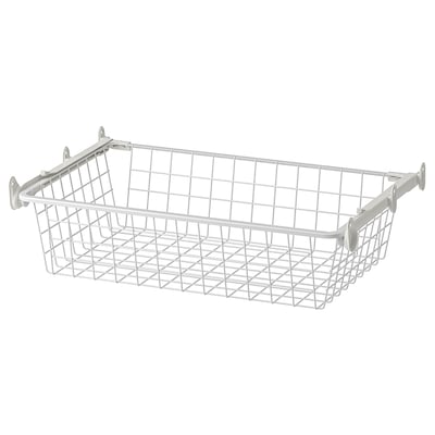 AURDAL Wire basket with pull-out rail, white