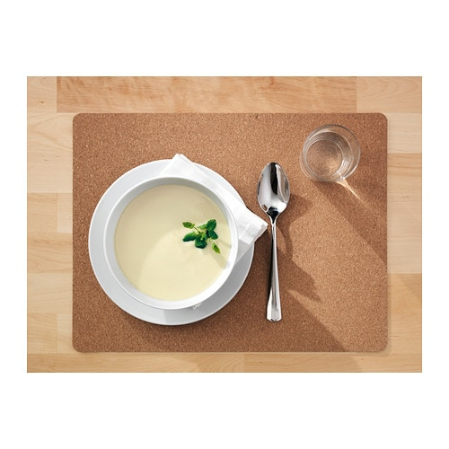 AVSKILD Place mat IKEA Protects the table top surface and reduces noise from plates and flatware.