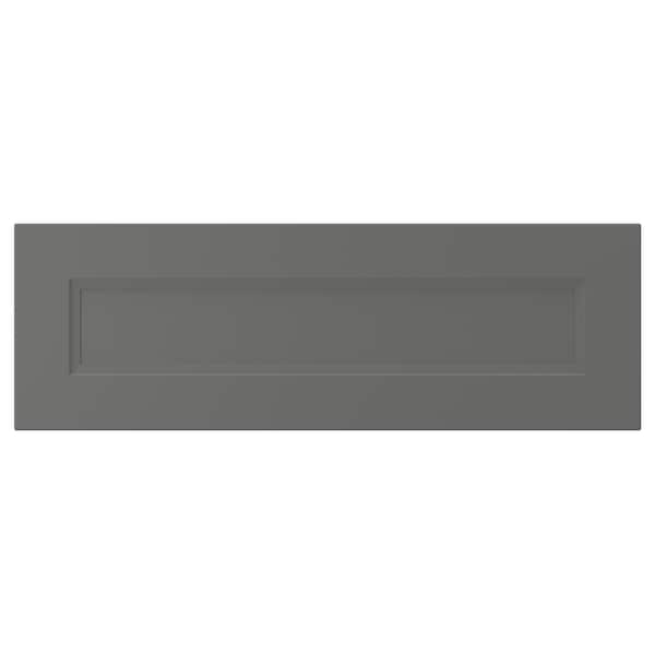 AXSTAD Drawer front, dark gray, 30x10 ""