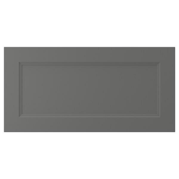"AXSTAD Drawer front, dark gray, 30x15 """