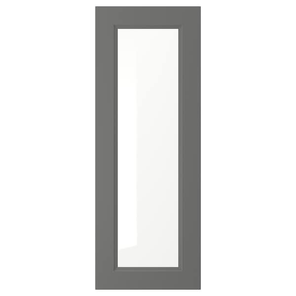 AXSTAD Glass door, dark gray, 15x40 ""
