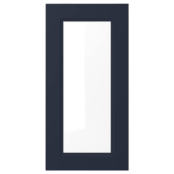 AXSTAD Glass door, matte blue, 15x30 ""