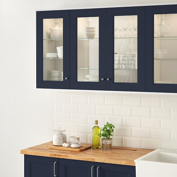 AXSTAD Glass door, matte blue, 15x40 ""