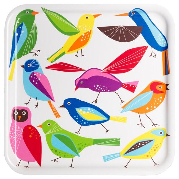 """BÄRBAR Tray, bird, 13x13 """""""