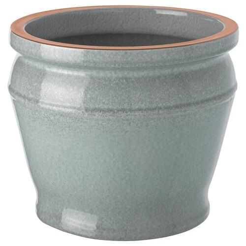 """BÄRMÅLLA plant pot indoor/outdoor blue-green 8 ¼ """" 10 ¼ """" 7 ½ """" 8 ¾ """""""