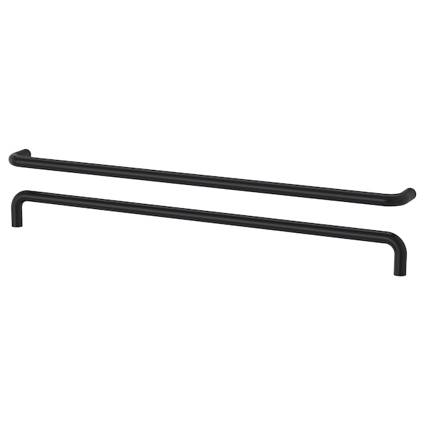 "BAGGANÄS handle black 13 3/16 "" 3/8 "" 1 1/4 "" 3/16 "" 12 5/8 "" 2 pack"