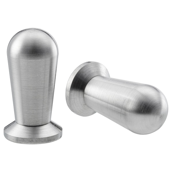 """BAGGANÄS Knob, stainless steel, 1/2 """""""