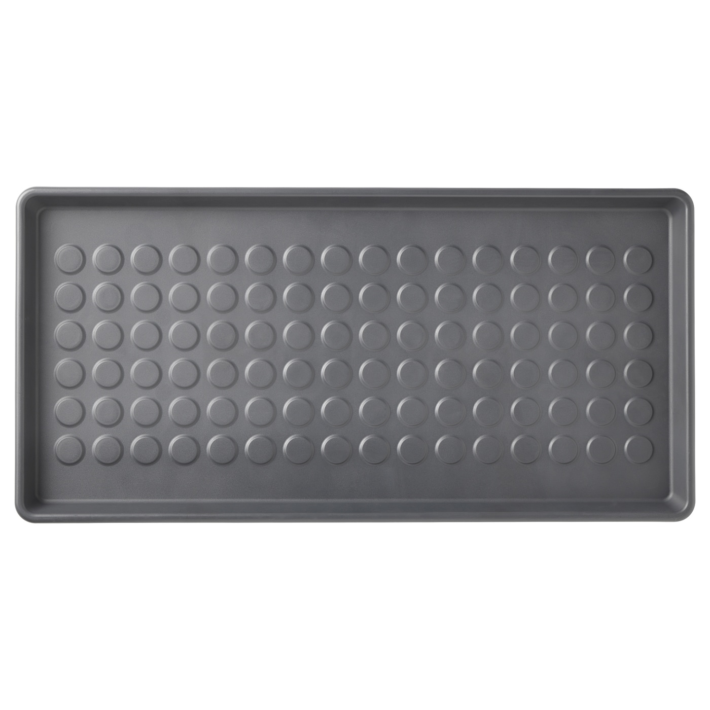 iDesign Plastic Under the Sink Drip Protector Tray for Kitchen Cabinet Office Entryways College Dorm Bathroom Set of 2 Mudroom Black