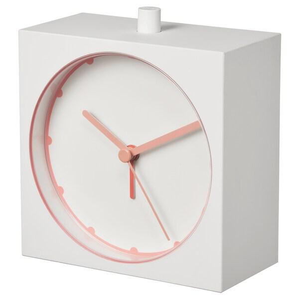 "BAJK Alarm clock, white, 2x4 ¼ """