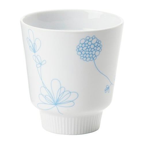 BAKELSE Tumbler IKEA Made of double-walled ceramic; retains heat inside and keeps the outside cool at the same time.