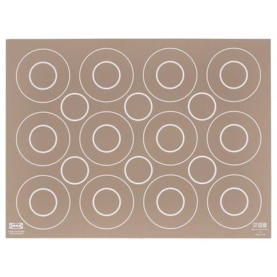 "BAKTRADITION Baking mat, beige, 16x12 """