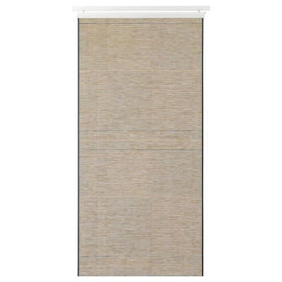 "BANTISTEL Panel curtain, beige/black, 24x118 """