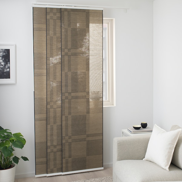 bantistel panel curtain beigeblack  ikea
