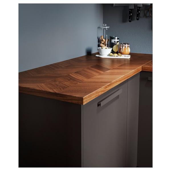 "BARKABODA Countertop, walnut/veneer, 98x1 1/2 """