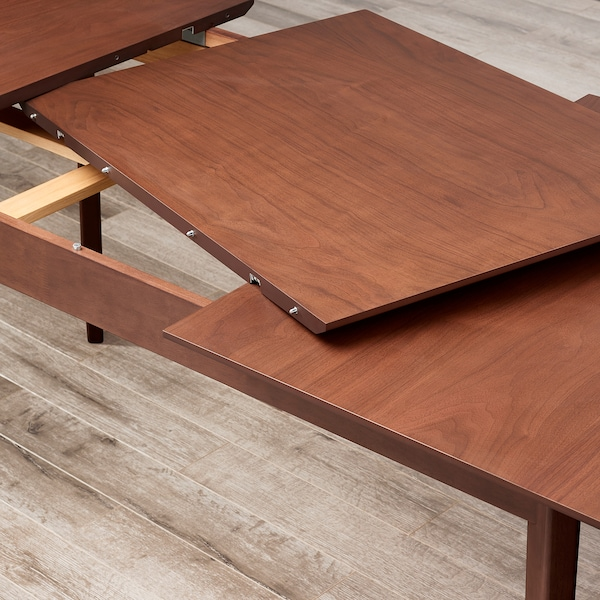 BARKARBY Extendable table, walnut veneer, 63/86 5/8x35 3/8 ""