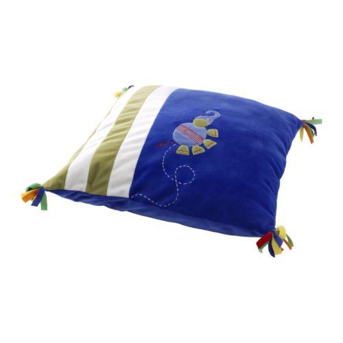 "BARNSLIG DJUR Cushion blue Length: 17 "" Width: 17 ""  Length: 43 cm Width: 43 cm"