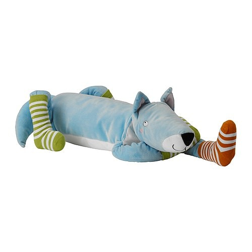 "BARNSLIG ULVEN Soft toy, blue Length: 23 ½ ""  Length: 60 cm"