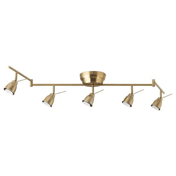 BAROMETER Ceiling track, 5-spots, brass color