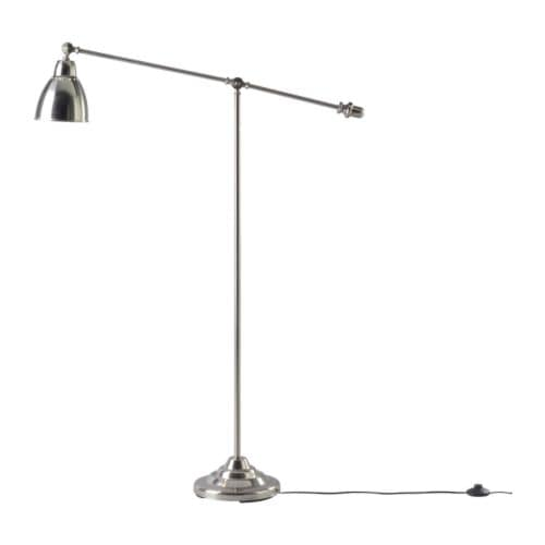 "BAROMETER Floor/reading lamp  Height: 57 "" Base diameter: 10 "" Shade diameter: 6 "" Cord length: 7 ' 3 ""  Height: 146 cm Base diameter: 26 cm Shade diameter: 16 cm Cord length: 2.2 m"