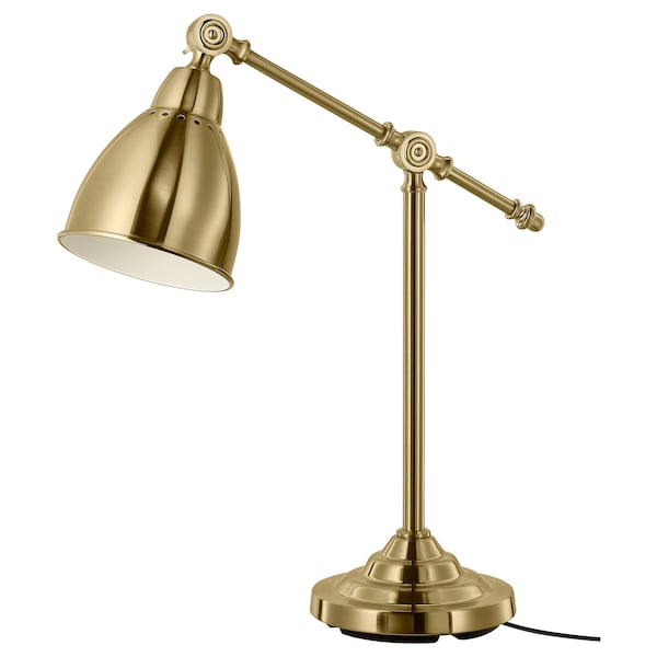 BAROMETER Work lamp with LED bulb, brass color
