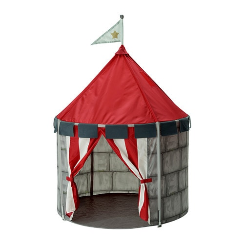 BEBOELIG Children's tent IKEA Creates a sheltered spot, a room in the room, to play or just cuddle up in.
