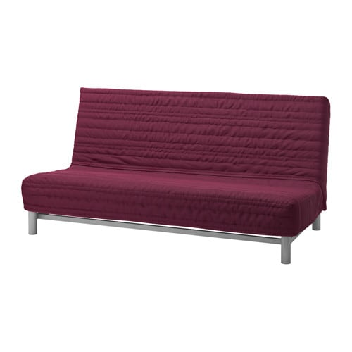 Beddinge sofa bed slipcover knisa cerise ikea Loveseat futon cover