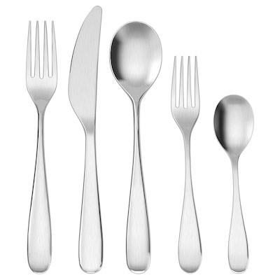 BEHAGFULL 20-piece flatware set, stainless steel