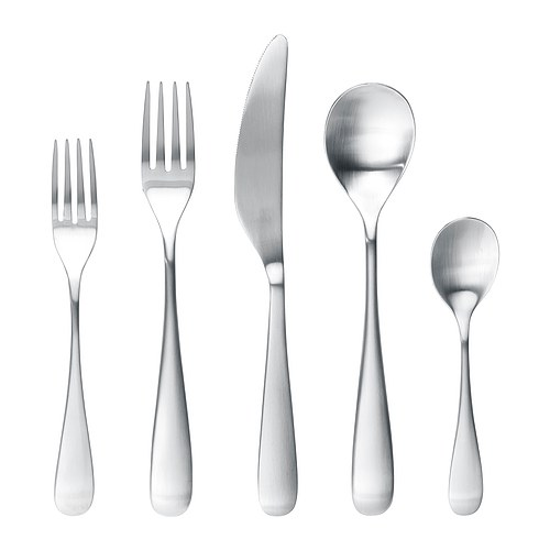 BEHAGFULL 20-piece flatware set, stainless steel