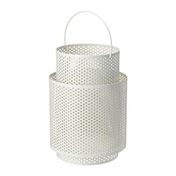 BEHÄRSKA lantern for block candle, white