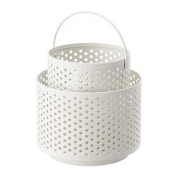 BEHÄRSKA lantern for tealight, white