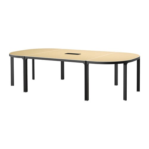 bekant conference table birch veneer black ikea. Black Bedroom Furniture Sets. Home Design Ideas