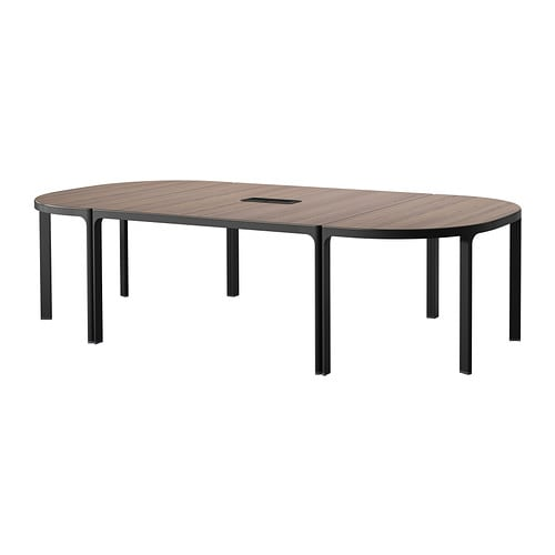 Bekant conference table gray black ikea - Table reglable en hauteur ikea ...