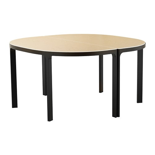 BEKANT Conference Table Birchblack IKEA - 6 foot oval conference table
