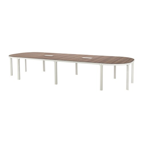 Bekant conference table gray white ikea for Table cuisine 140 x 90