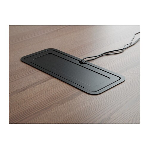 BEKANT Conference Table Whiteblack IKEA - Conference table cable management