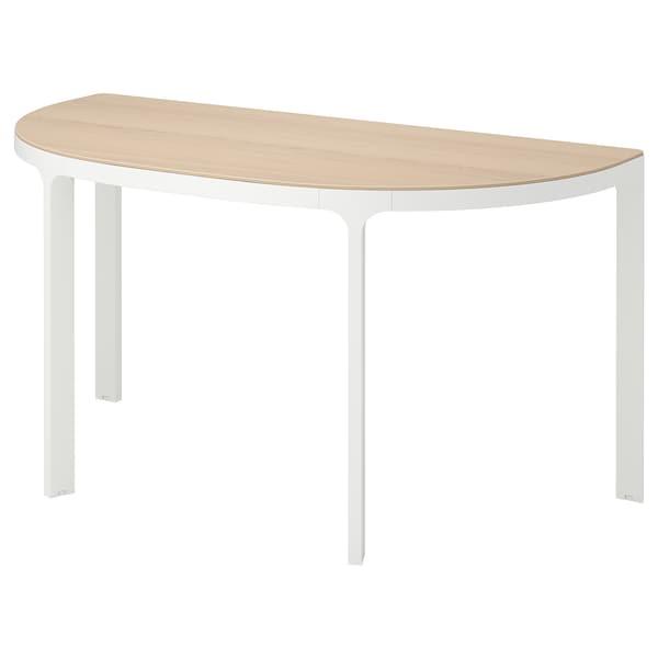 "BEKANT conference table white stained oak veneer/white 55 1/8 "" 27 1/2 "" 28 3/4 "" 220 lb"