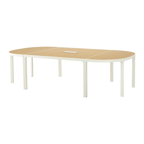 bekant conference table birch veneer white ikea