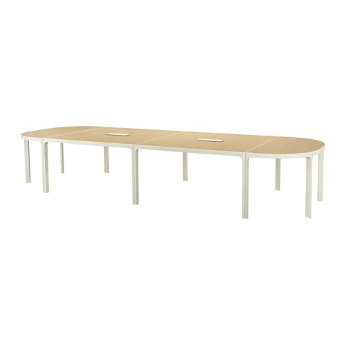Bekant conference table birch veneer white ikea for Linoleum ikea