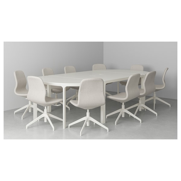 BEKANT Conference table, white, 110 1/4x55 1/8 ""