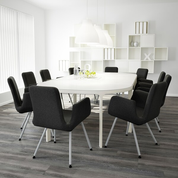 """BEKANT Conference table, white, 110 1/4x55 1/8 """""""